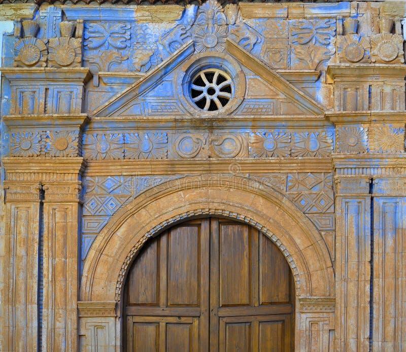 Η λεπτομέρεια της εκκλησίας Nuestra Senora de Regla σε Pajara στοκ εικόνες