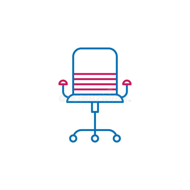 Η εργασία επαναλαμβάνει, καρέκλα 2 γραφείων εικονίδιο χρωματισμένων γραμμών Απλό εικονίδιο χρωματισμένων στοιχείων Η εργασία επαν ελεύθερη απεικόνιση δικαιώματος