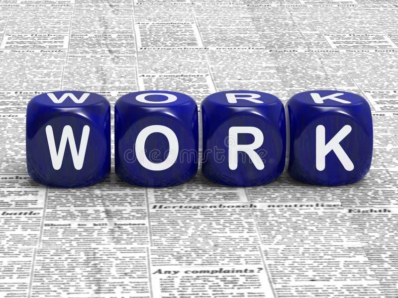 Η εργασία χωρίζει σε τετράγωνα το μέσες επάγγελμα και την εργασία απασχόλησης απεικόνιση αποθεμάτων