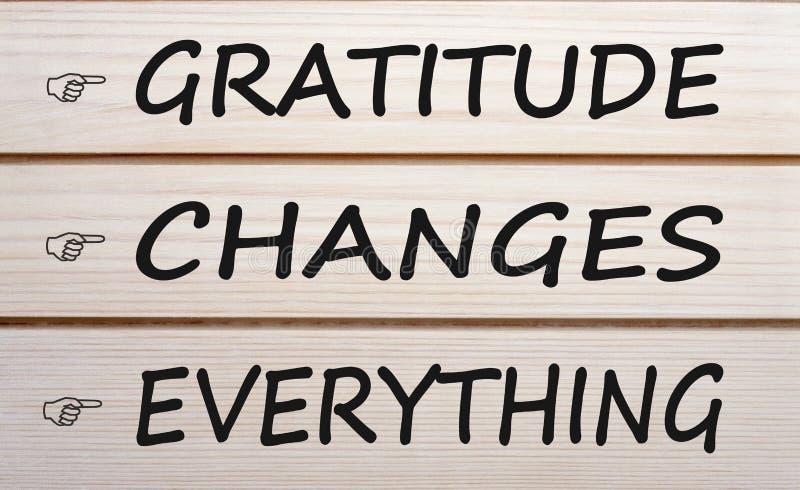 Η ευγνωμοσύνη αλλάζει όλα στοκ φωτογραφία με δικαίωμα ελεύθερης χρήσης