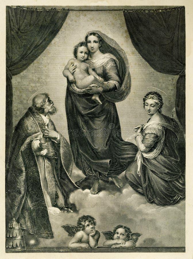 Η ευλογημένη θρησκεία της Virgin και παιδιών στοκ φωτογραφίες