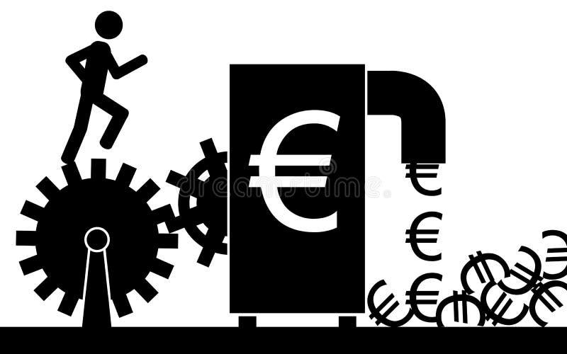 Η ευρο- μηχανή διανυσματική απεικόνιση