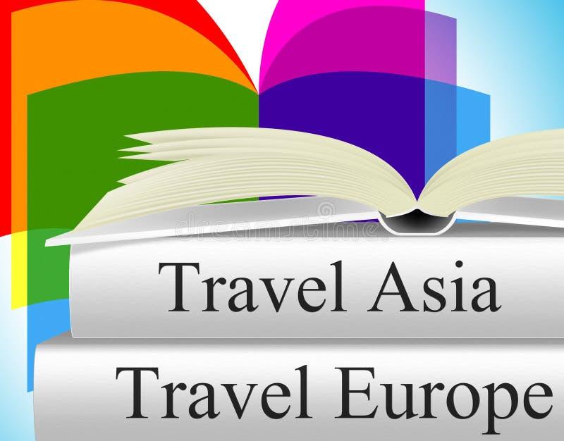 Η Ευρώπη κρατά τον οδηγό και την Ασία ταξιδιού μέσων ελεύθερη απεικόνιση δικαιώματος
