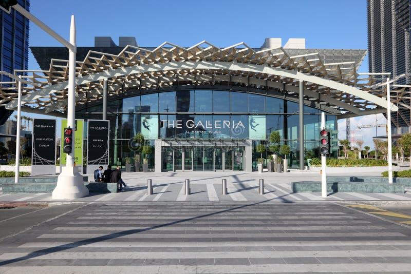 Η λεωφόρος Galleria στο Αμπού Ντάμπι στοκ φωτογραφία