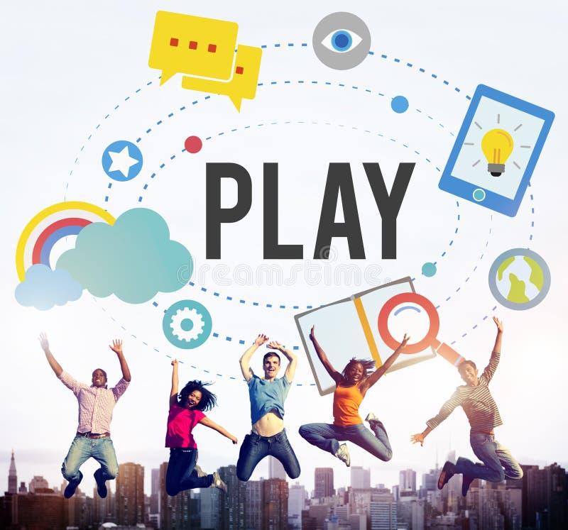 Η εύθυμη φαντασία απόλαυσης παιχνιδιού δημιουργεί την έννοια στοκ φωτογραφία με δικαίωμα ελεύθερης χρήσης
