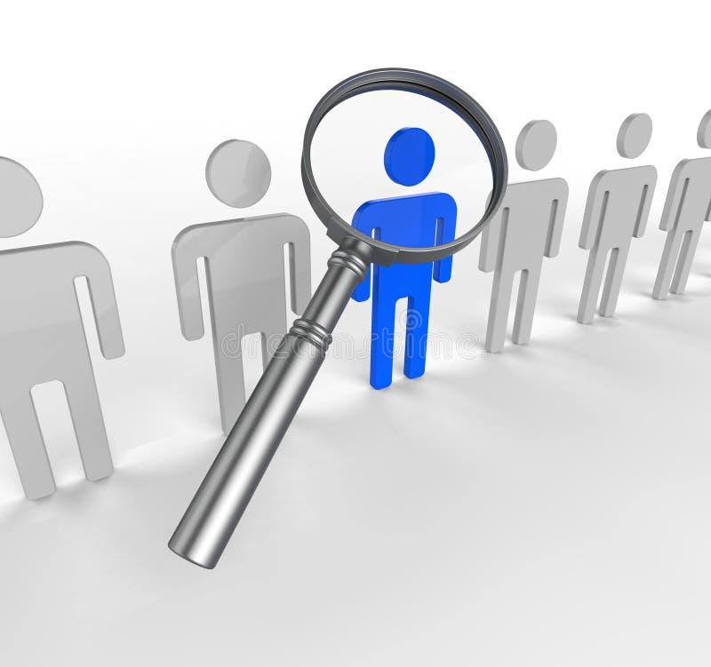 Η εύρεση του προσωπικού σημαίνει την αναζήτηση έξω και τη λαμπρότητα ελεύθερη απεικόνιση δικαιώματος
