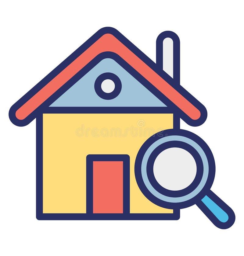 Η εύρεση του σπιτιού απομόνωσε το διανυσματικό εικονίδιο που μπορεί εύκολα να τροποποιήσει ή να εκδώσει διανυσματική απεικόνιση