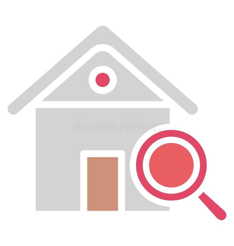 Η εύρεση του σπιτιού απομόνωσε το διανυσματικό εικονίδιο που μπορεί εύκολα να τροποποιήσει ή να εκδώσει απεικόνιση αποθεμάτων