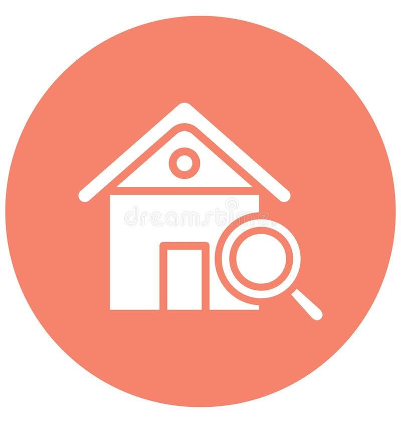 Η εύρεση του σπιτιού απομόνωσε το διανυσματικό εικονίδιο που μπορεί εύκολα να τροποποιήσει ή να εκδώσει την εύρεση απομονωμένου τ ελεύθερη απεικόνιση δικαιώματος