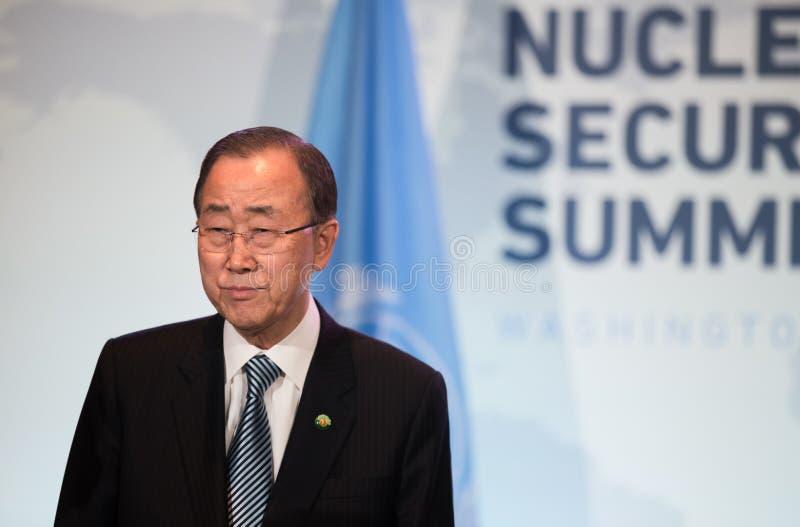 Η.Ε Γενικός Γραμματέας Ban Ki-moon στοκ εικόνα