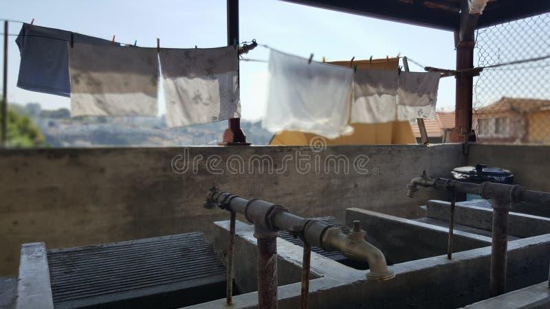 Η.Ε Πόρτο θέσεων πλύσης στοκ εικόνες