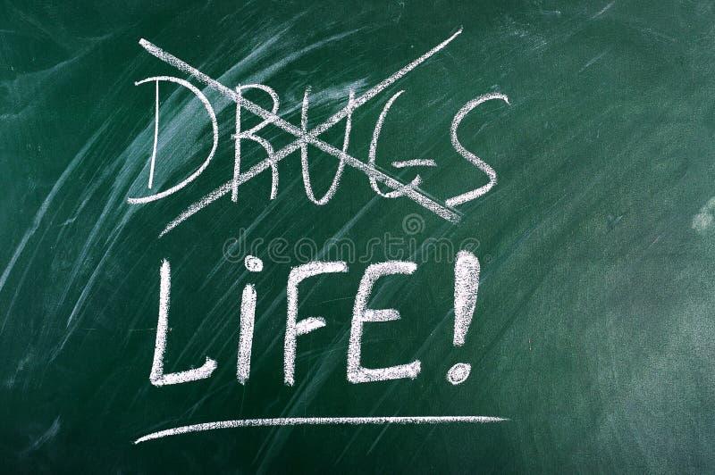η ζωή φαρμάκων επιλογής καμία λέει στοκ φωτογραφία με δικαίωμα ελεύθερης χρήσης