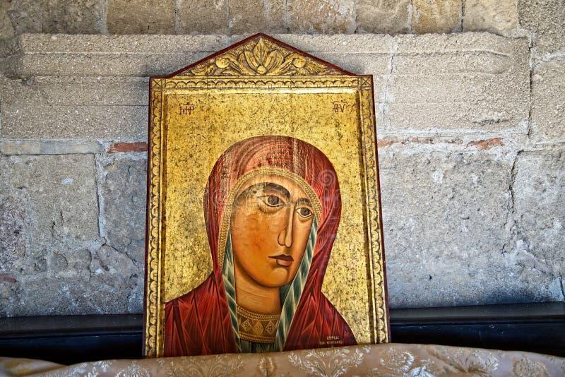 Η ζωγραφική στην ακρόπολη Ialysos αυτό βρίσκεται σε και γύρω από το λόφο Philerimos σε Ialysos Ρόδος στοκ εικόνα