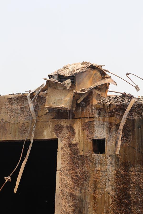 Η ζώνη πυρκαγιάς προκαλεί τα σκουριασμένα ασφαλιστικά αρχεία οικοδόμησης στοκ φωτογραφία με δικαίωμα ελεύθερης χρήσης