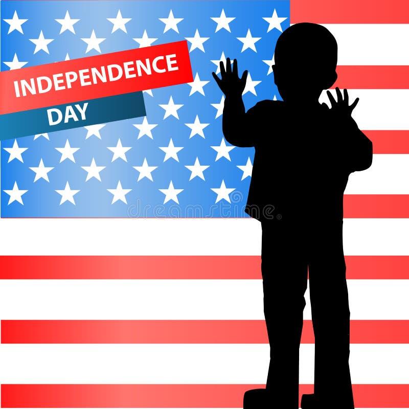 Η ημέρα ανεξαρτησία των Ηνωμένων Πολιτειών διανυσματική απεικόνιση