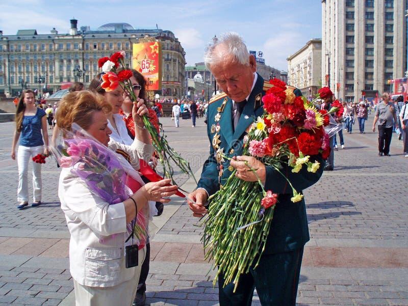 Η ημέρα νίκης, Μόσχα, στις 9 Μαΐου 2010 Ρωσία στοκ εικόνες