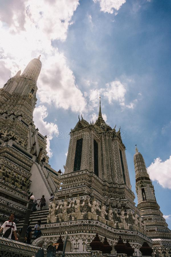Η ημέρα στη Μπανγκόκ, Ταϊλάνδη, ναός Wat Arun στοκ εικόνες