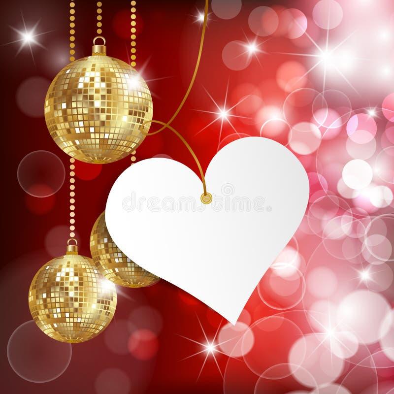 η ημέρα σύρει τον ευτυχή βαλεντίνο απεικόνισης s Ευχετήρια κάρτα στο κόκκινο υπόβαθρο απεικόνιση αποθεμάτων