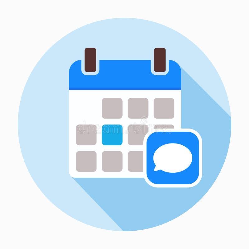 Η ημερολογιακή συνομιλία σχολιάζει εικονίδιο σημειωματάριων μηνυμάτων απεικόνιση αποθεμάτων