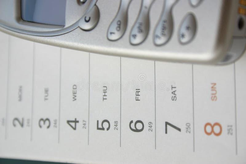 η ημερομηνία κλήσης κάνει στοκ εικόνες με δικαίωμα ελεύθερης χρήσης