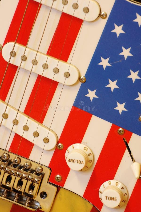 Η ηλεκτρική αμερικανική σημαία κιθάρων απαριθμεί 5 στοκ φωτογραφίες με δικαίωμα ελεύθερης χρήσης