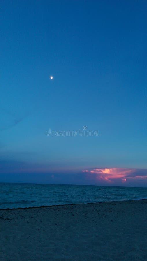 Η ηλιόλουστη παραλία Φλώριδα Ηνωμένες Πολιτείες της Αμερικής Σεπτέμβριος νησιών στοκ εικόνα