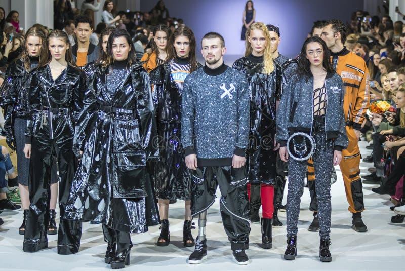 Η 38η ουκρανική εβδομάδα μόδας σε Kyiv, Ουκρανία στοκ φωτογραφίες