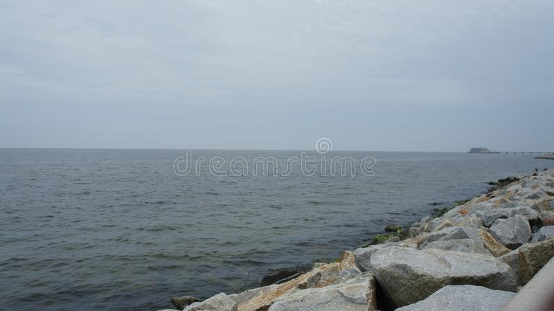 Η θάλασσα της Βαλτικής στο Gdynia, Πολωνία στοκ φωτογραφία