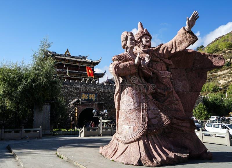 Η θέση της πριγκήπισσας Wencheng (πριγκήπισσα της δυναστείας του Tang) στοκ φωτογραφίες