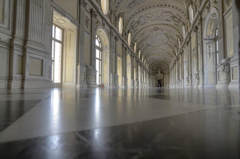 Η θαυμάσια μεγάλη στοά ή Diana της Royal Palace Venaria στοκ φωτογραφίες