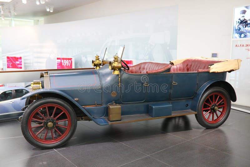 Η θαυμάσια Alfa Romeo πρότυπο 24/10 HP στην επίδειξη στο ιστορικό μουσείο Alfa Romeo στοκ εικόνα