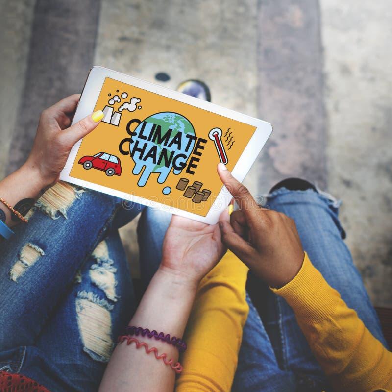 Η θερμοκρασία σώζει το κλίμα Chan περιβάλλοντος πλανητών γήινης ρύπανσης στοκ φωτογραφία με δικαίωμα ελεύθερης χρήσης