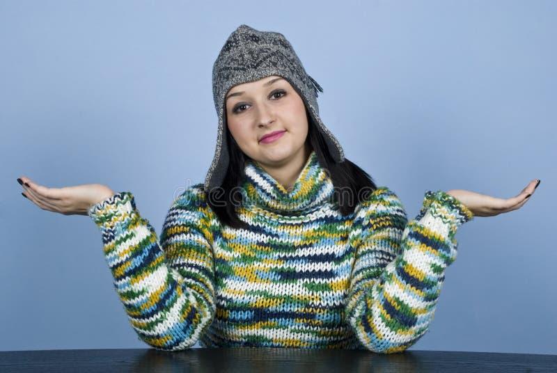 η θηλυκή κατάπληξη ανησύχη&sigm στοκ εικόνα με δικαίωμα ελεύθερης χρήσης