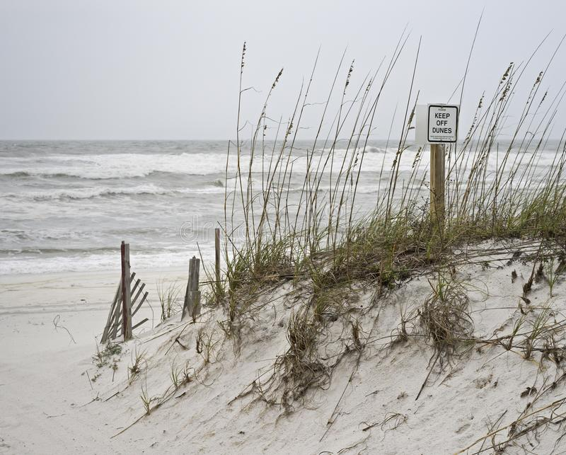 Η θυελλώδης ημέρα αποφεύγει των αμμόλοφων στοκ φωτογραφία με δικαίωμα ελεύθερης χρήσης