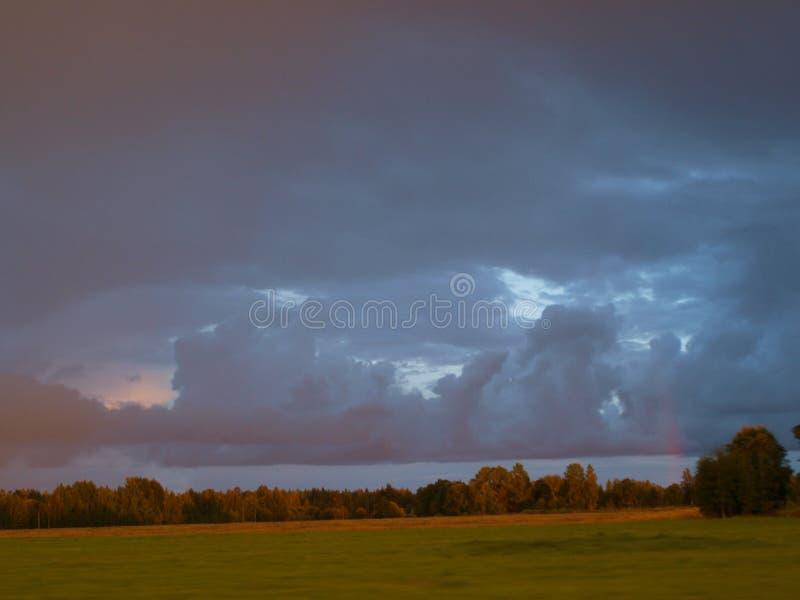 Η θύελλα πλησίαζε στοκ φωτογραφίες