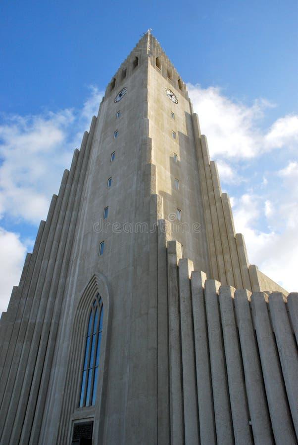 Hallgrimskirkja, Ρέικιαβικ, Ισλανδία στοκ φωτογραφία με δικαίωμα ελεύθερης χρήσης