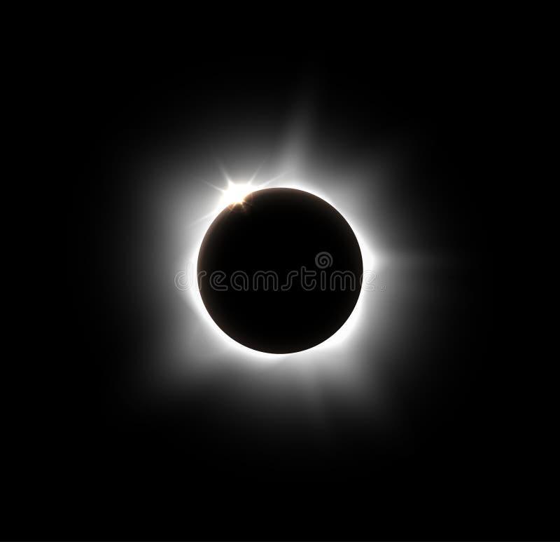 Ηλιακή έκλειψη διανυσματική απεικόνιση