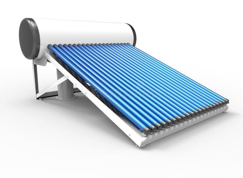Ηλιακή απεικόνιση θερμοσιφώνων διανυσματική απεικόνιση