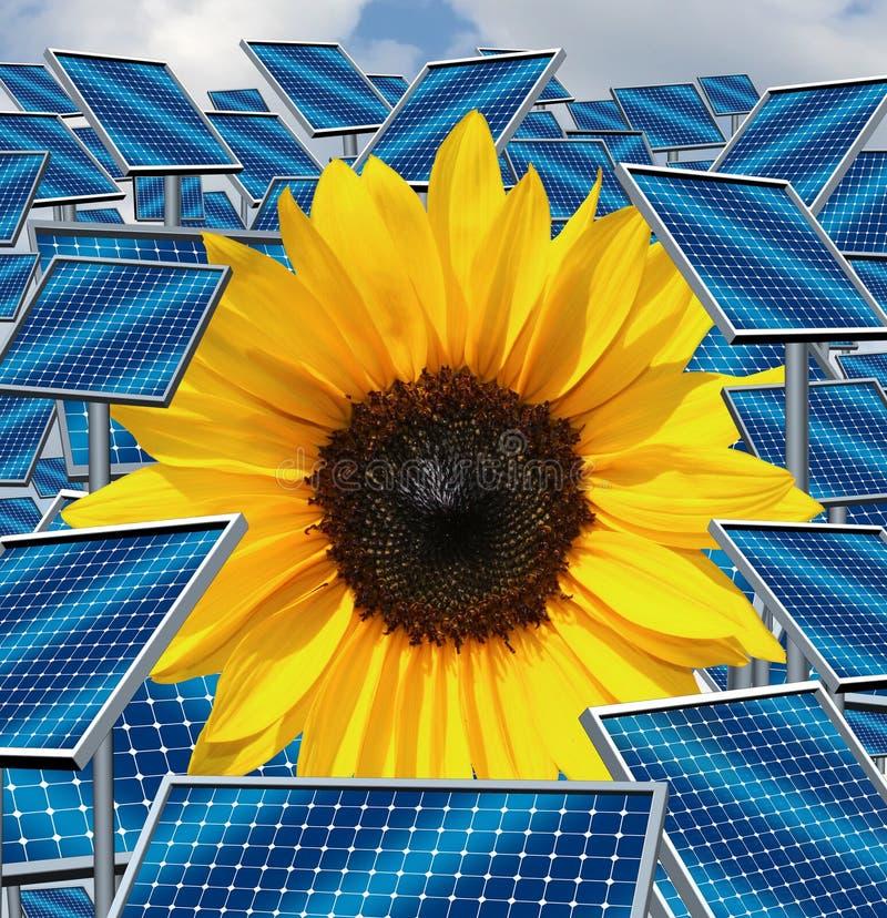 Ηλιακή ενέργεια διανυσματική απεικόνιση