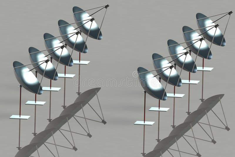 Ηλιακοί παραβολικοί ανακλαστήρες Στοκ Φωτογραφίες