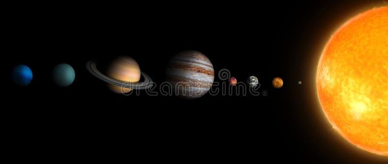 Ηλιακό σύστημα 3Ð' ελεύθερη απεικόνιση δικαιώματος