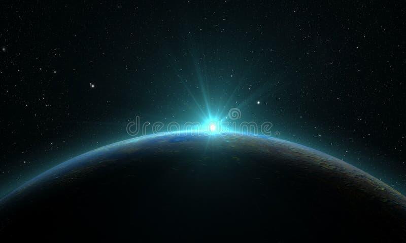 Ηλιακό σύστημα - υδράργυρος πλανητών διανυσματική απεικόνιση