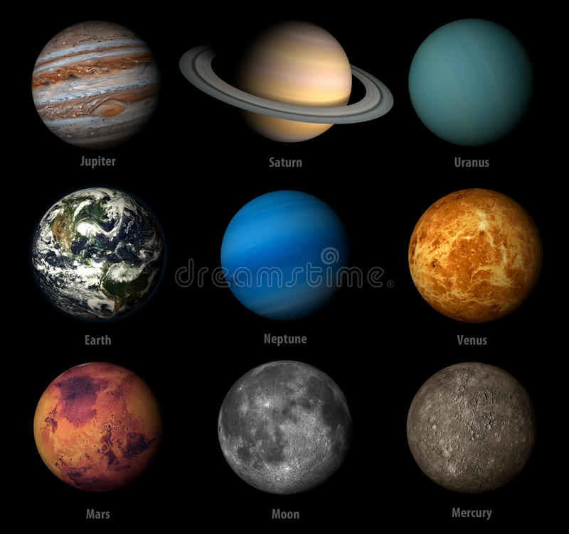 Ηλιακό σύστημα διανυσματική απεικόνιση