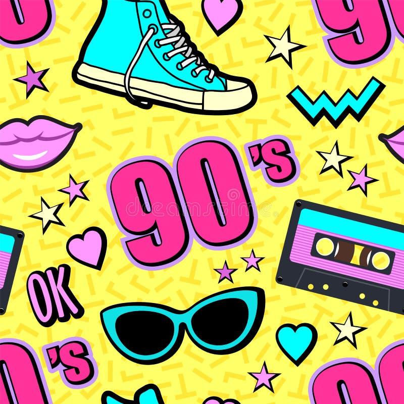 Η διανυσματική δεκαετία του '80 υποβάθρου νέου λαϊκή, η δεκαετία του '90 διανυσματική απεικόνιση