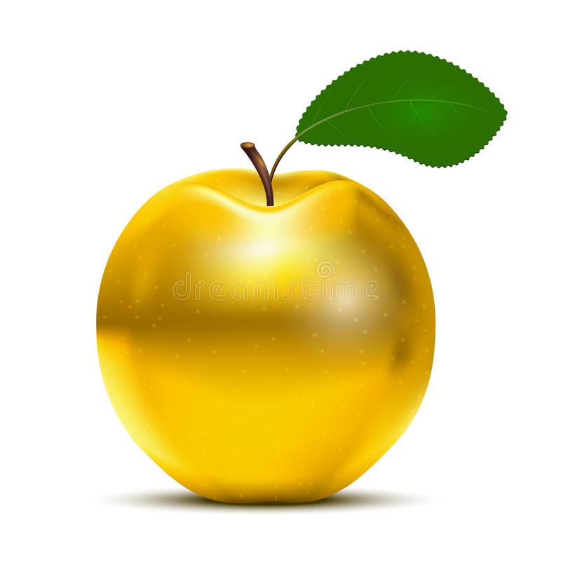 Η χρυσή Apple διανυσματική απεικόνιση