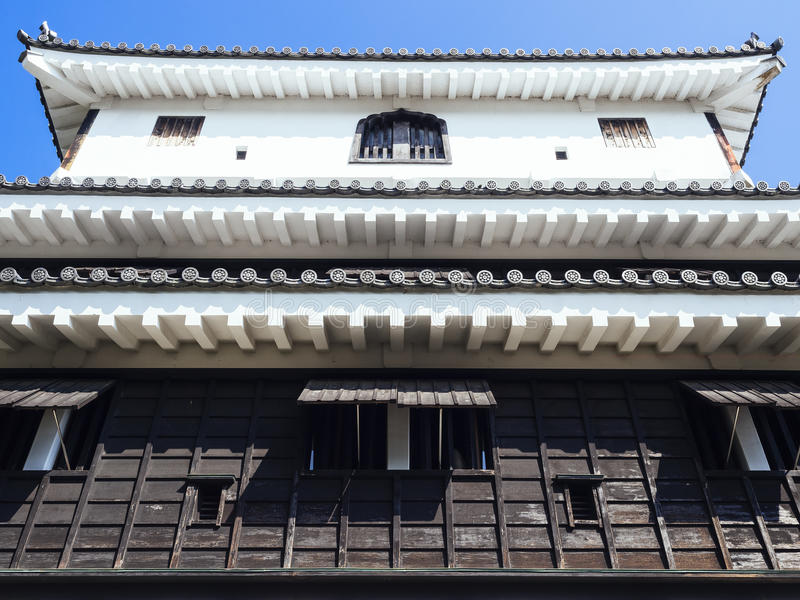Η Ιαπωνία Castle απαριθμεί την παραδοσιακή πολιτιστική αρχιτεκτονική στοκ φωτογραφίες με δικαίωμα ελεύθερης χρήσης