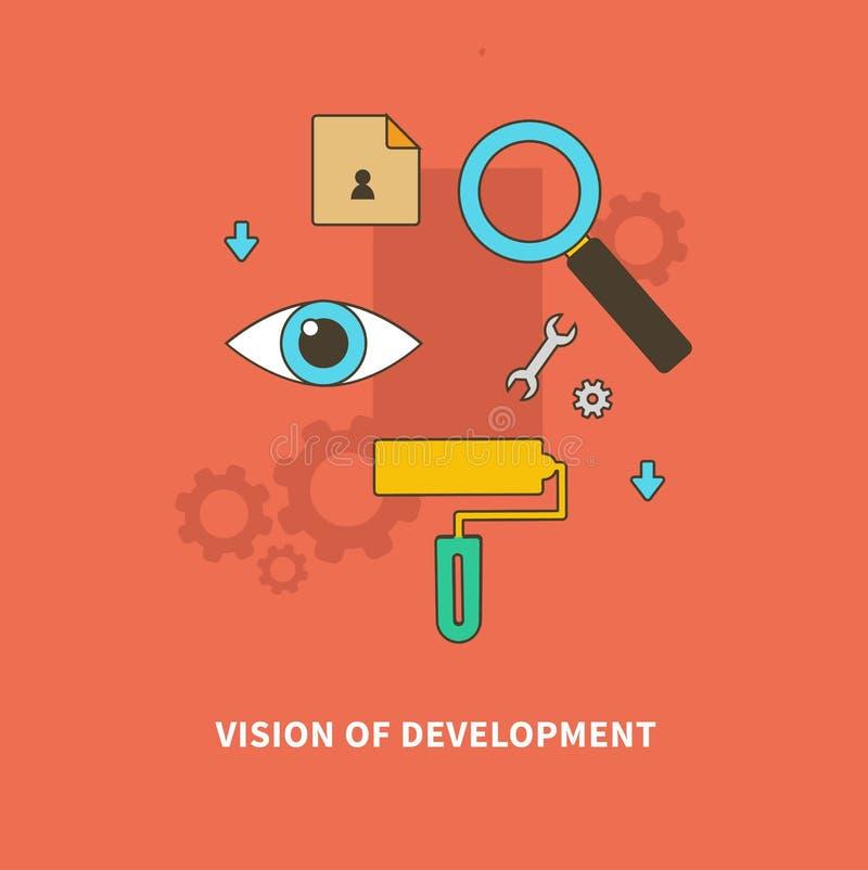 Η διαδικασία σκηνικών επιχειρήσεων είναι όραμα της ανάπτυξης απεικόνιση αποθεμάτων