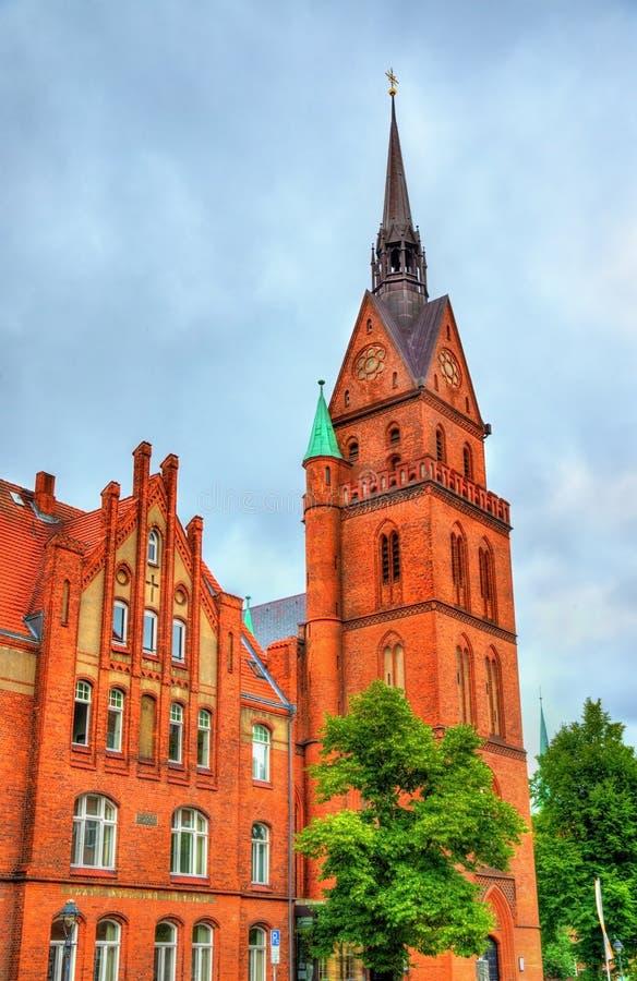 Η ιερή εκκλησία καρδιών στο Λούμπεκ, Γερμανία στοκ εικόνες