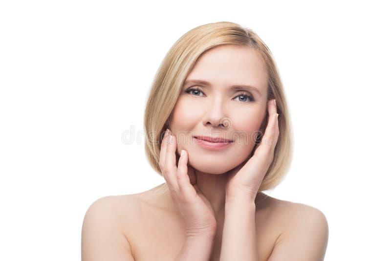 ηλικίας όμορφη μέση γυναίκα στοκ φωτογραφίες