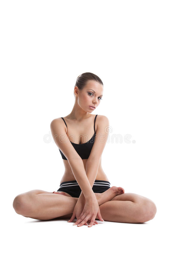 Download η ικανότητα ευτυχής προετοιμάζεται κάθεται τις νεολαίες γυναικών Στοκ Εικόνες - εικόνα από κομψότητα, μοιχαλίδα: 22798408